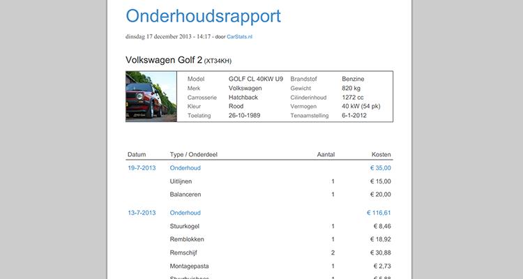 auto kosten per km